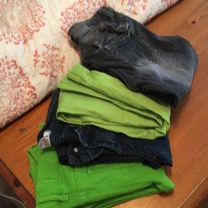 Hollister, bongo, rue 21 zhilaration pants